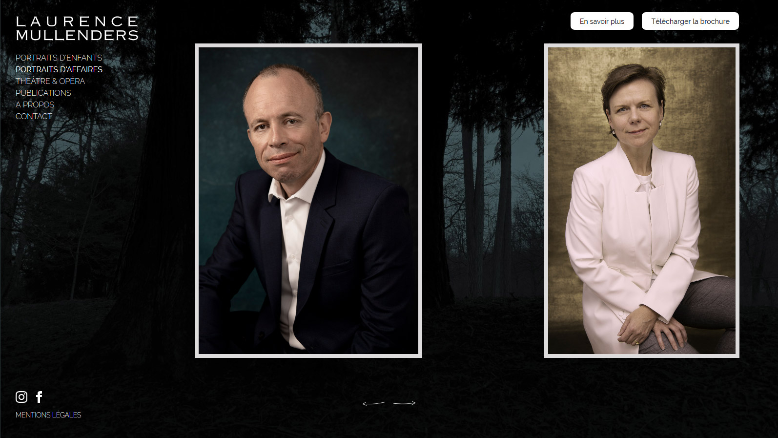 Page courante : portraits d'affaires