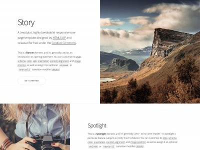 HTML5Up Story pour SPIP